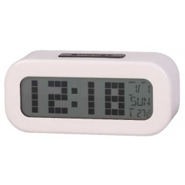 RELOJ DESPERTADOR DIGITAL DAEWOO BLANCO