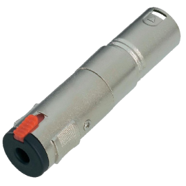ADAPTADOR XLR 3P MACHO A JACK 6,3 mm HEMBRA MONO