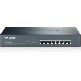 SWITCH 8 PUERTOS CON 8 POE GIGABIT TP-LINK