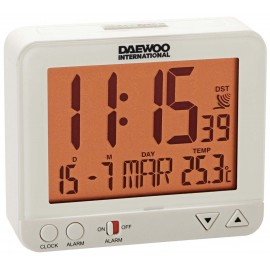 RELOJ DESPERTADOR DIGITAL DAEWO BLANCO
