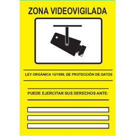 CARTEL CCTV DURO 210 x 297 mm