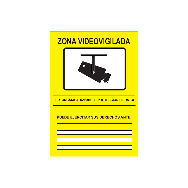 Cartel cctv duro 210 x 297 mm electronica bf sl - Cartel de videovigilancia ...