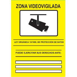 CARTEL CCTV ADHESIVO TRASERO 297X210