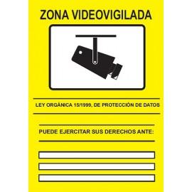 CARTEL CCTV ADHESIVO DELANTE 210 x 297 mm