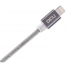 CONEXIÓN IPHONE USB LIGHTNING ALUMINIO GRIS 1 m DCU