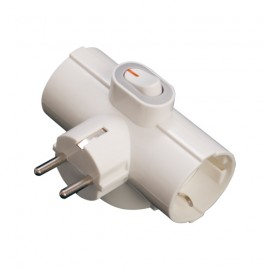 ADAPTADOR TRIPLE SUCKO CON INTERRUPTOR GSC