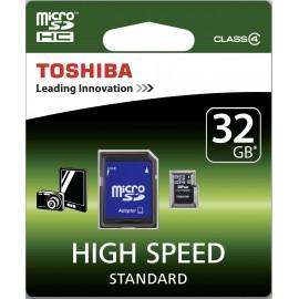 TARJETA MEMORIA MICRO SDHC 32GB C4 + ADAPT TOSHIBA
