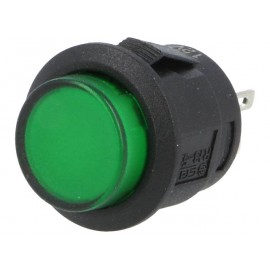 INTERRUPTOR 2P ON-OFF 12V LED VERD