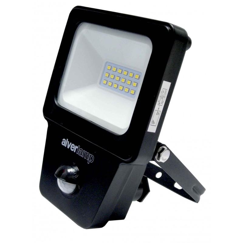 Foco led exterior 10w 4000k sensor alver electronica bf sl for Foco led exterior 10w
