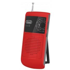 RADIO AM/FM PORTÁTIL C/SOPORTE ROJO TREVI