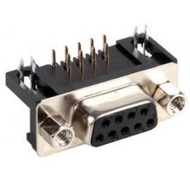 CONECTOR SUB-D 9P HEMBRA PCB PIN 7.2mm