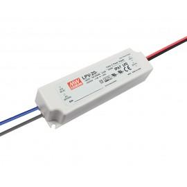 FUENTE LED 12V 1,67A 20W IP-67 MW