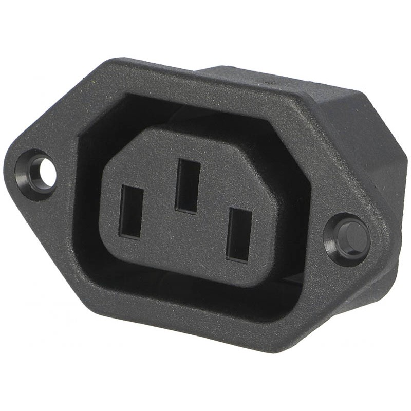 Conector red tripolar hembra chasis electronica bf sl for Conector de red hembra