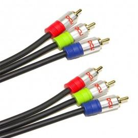 CONEXIÓN RGB 3x RCA-3xRCA 1m DCU