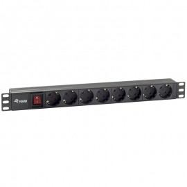 "BASE RED RACK 19"" 1U 8 TOMAS INT EQUIP"