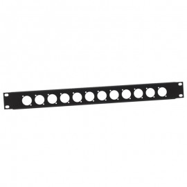 "TAPA RACK 19"" 1U 12 CONECTORES ADAM HALL"