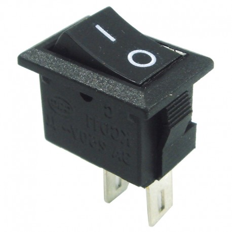INTERRUPTOR BASCULANTE MINI 2 POLOS NEGRO  ARISTON