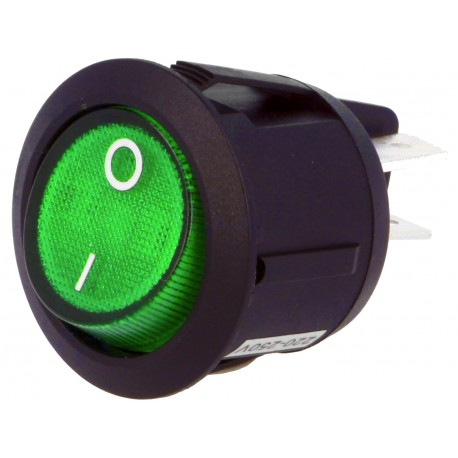 INTERRUPTOR BASCULANTE 2POS (OFF-ON) VERDE LUZ