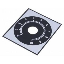 DISCO ESCALA 0-10 48x42mm NEGRO/ALUMINIO