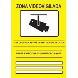 CARTEL CCTV ADHESIVO DELANTE 148X210 (A5)