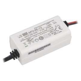 FUENTE LED 12V 8W 0,67A IP-42 MW