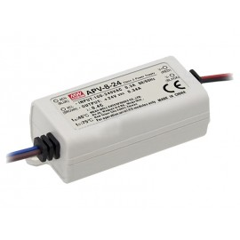 FUENTE LED 24V 8W 0,34A IP-42 MW