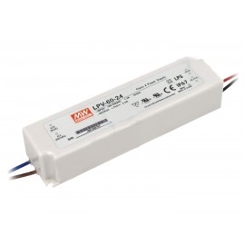 FUENTE LED 24V 2,5A 60W IP-67 MW