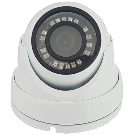 CAMARA CCTV DOMO FIJA 3,6 mm HD 1080p IP66 BLANC