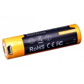 PILA RECARGABLE Li-Ion 18650 3,6V 2600mA USB FÉNIX