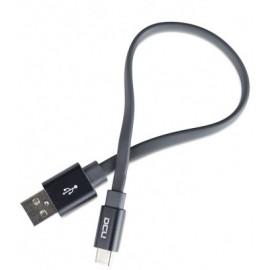 CONEXIÓN USB-C PLANO GRIS 0,2m DCU