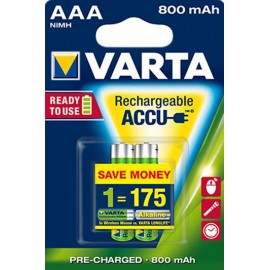 ACUMULADOR AAA/HR03 800 mA POWER ACCU VARTA PACK 2