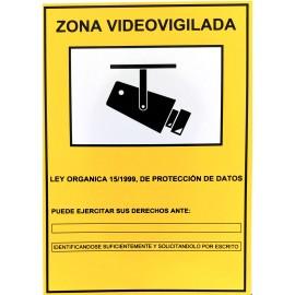 CARTEL CCTV PVC 148/210 A5 148x210