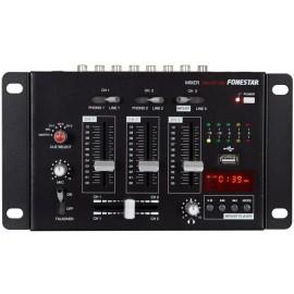 MEZCLADOR 3 CANALES BT / USB FONESTAR