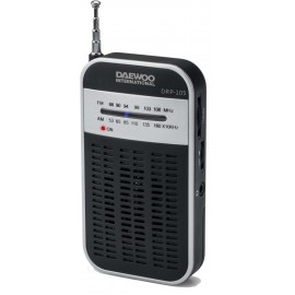 RADIO AM/FM NEGRO / GRIS CON ALTAVOZ DAEWOO