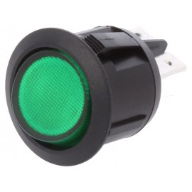 INTERRUPTOR BASCULANTE 2POS (OFF-ON) VERDE LUZ 12V