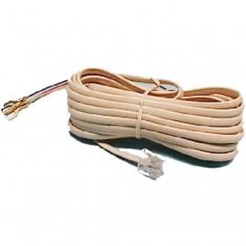 CONEXION TELEFONO PLANO 6P4C A TERMINALES 2.5m MARFIL