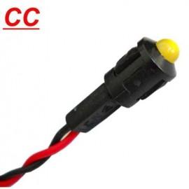 PILOTO LED AMARILLO 12 Vcc CON CABLE