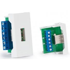 PANEL DE CONEXIONES USB A HEMBRA FONESTAR