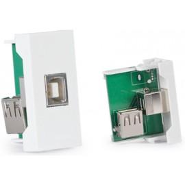 PANEL DE CONEXIONES USB B HEMBRA FONESTAR